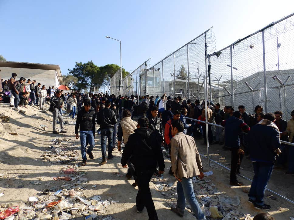 riots refugee camp
