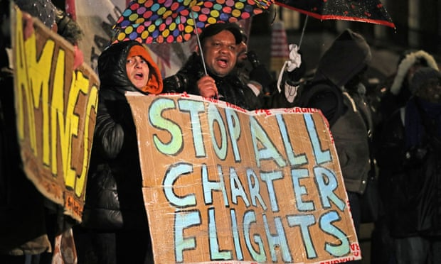 Jamaican charter flight deportation hostile environment