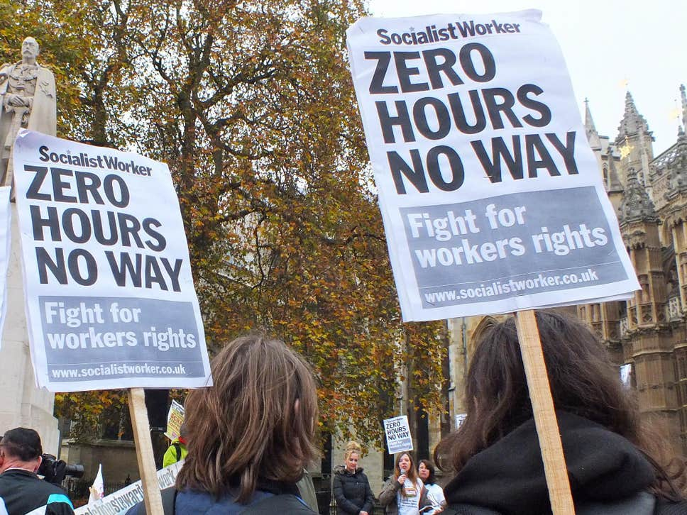 zero-hours contracts in low-paid work