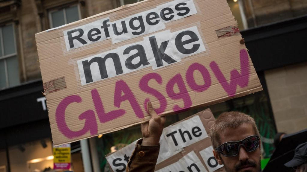 Glasgow houses the largest number of asylum seekers in the UK