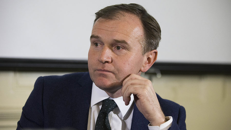 George Eustice urged furloughed employees to help out in the fields.