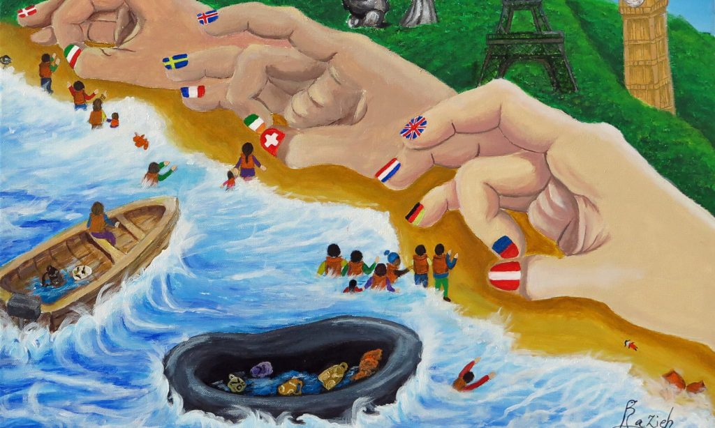 migrant artists paint refugees