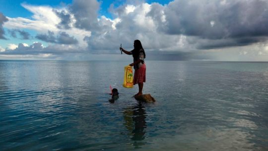 climate refugee battling rising sea levels