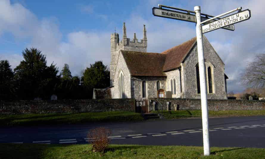 The village of Barton Stacey, on the outskirts of which the Home Office seeks to house up to 500 asylum seekers on empty government land