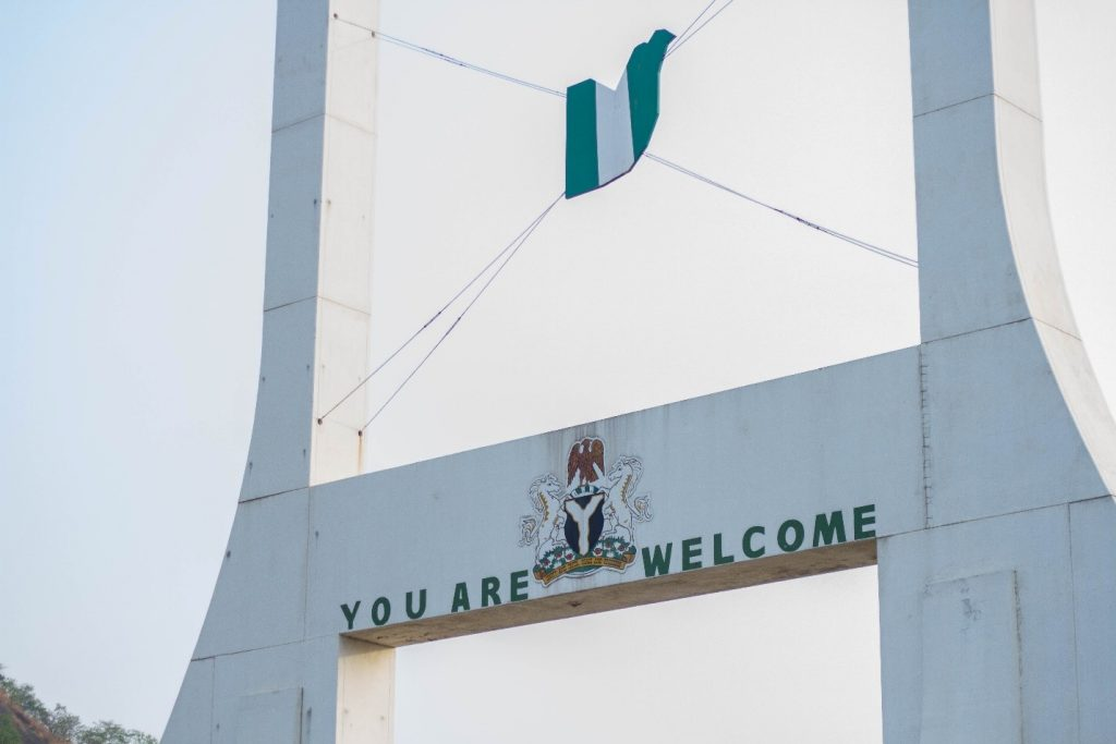 A sign in Nigeria stating 'You are welcome'
