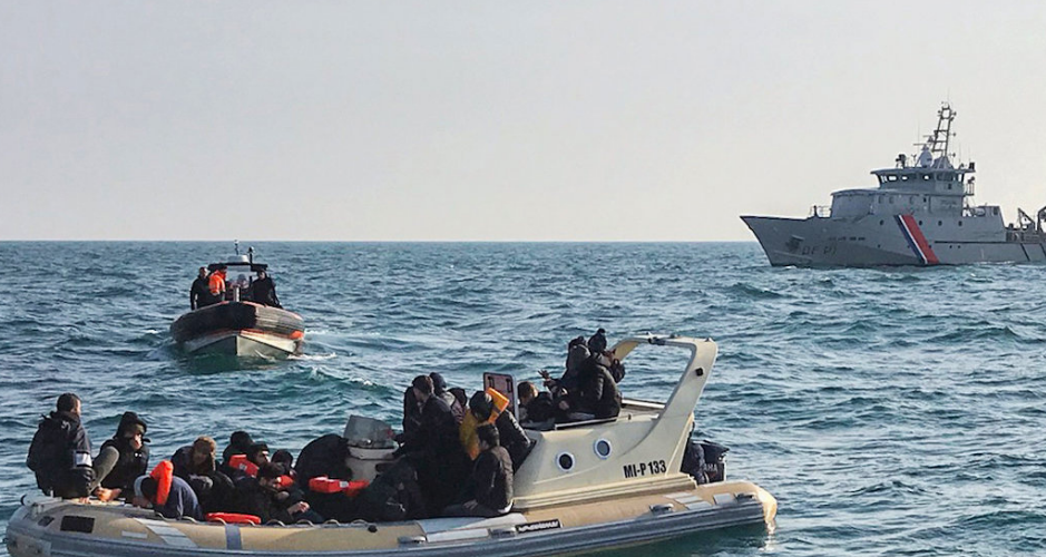 Migrants in the English Channel