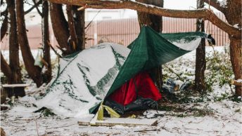 Asylum seekers sleeping rough in Calais