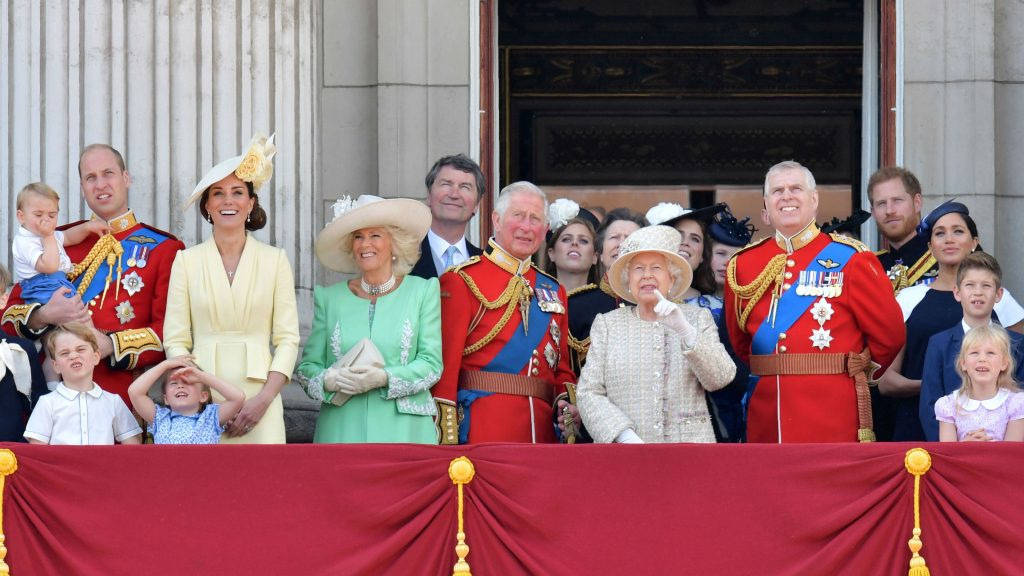 Some of the Royal Family pictured on the balcony of Buckingham Palace